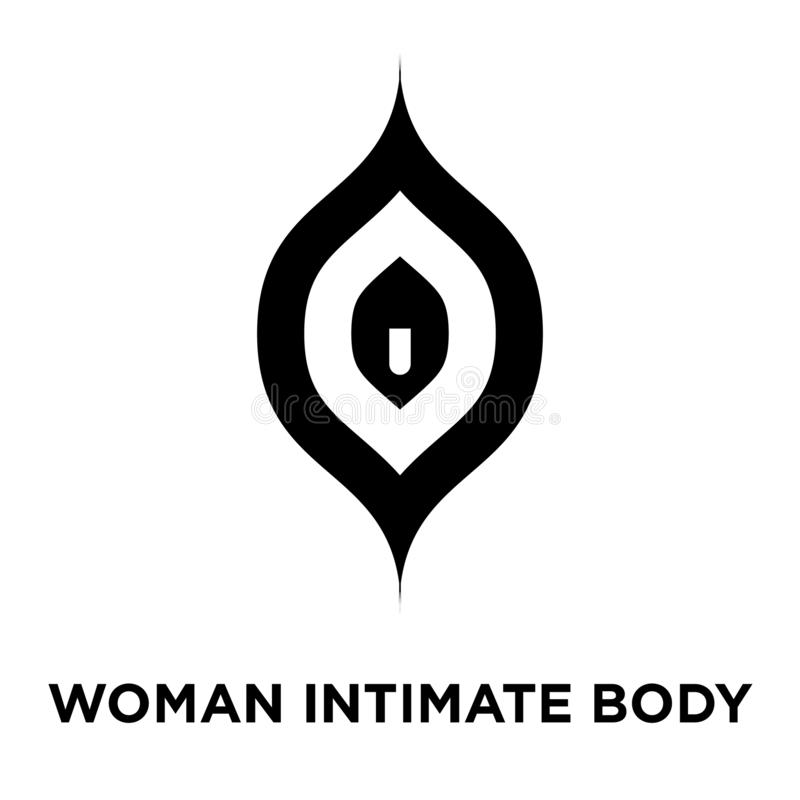Woman intimate body part icon vector isolated on white background, logo concept of Woman intimate body part sign on transparent b vector illustration