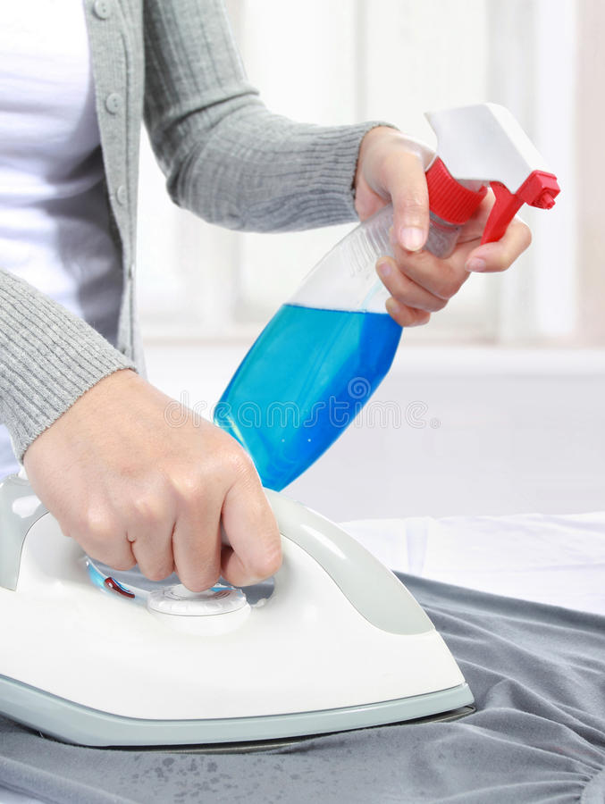 Housework at home stock photography