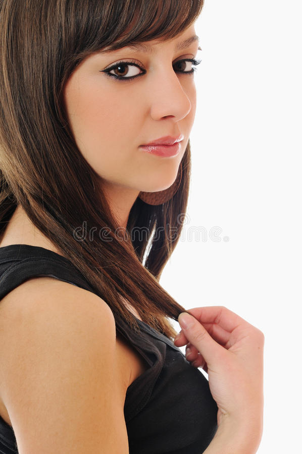 Woman isolated stock images