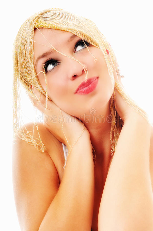 Woman isolated royalty free stock photos