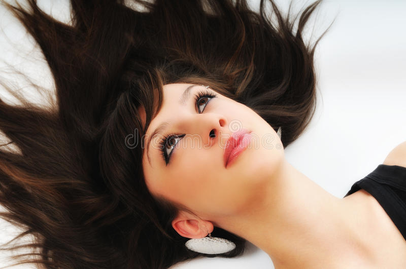 Woman isolated stock image