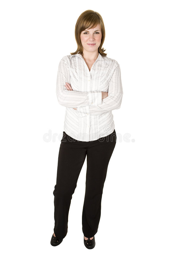 Download Woman Isolated On White Stock Image - Image: 8241471