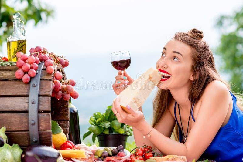 Image result for italian food wine girl