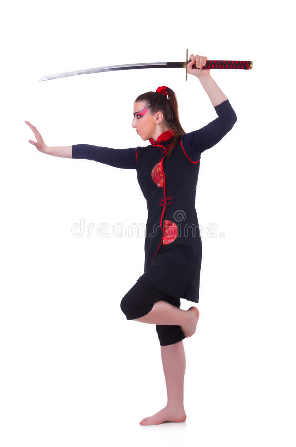 Download Woman in japanese martial stock photo. Image of japanese - 31752366