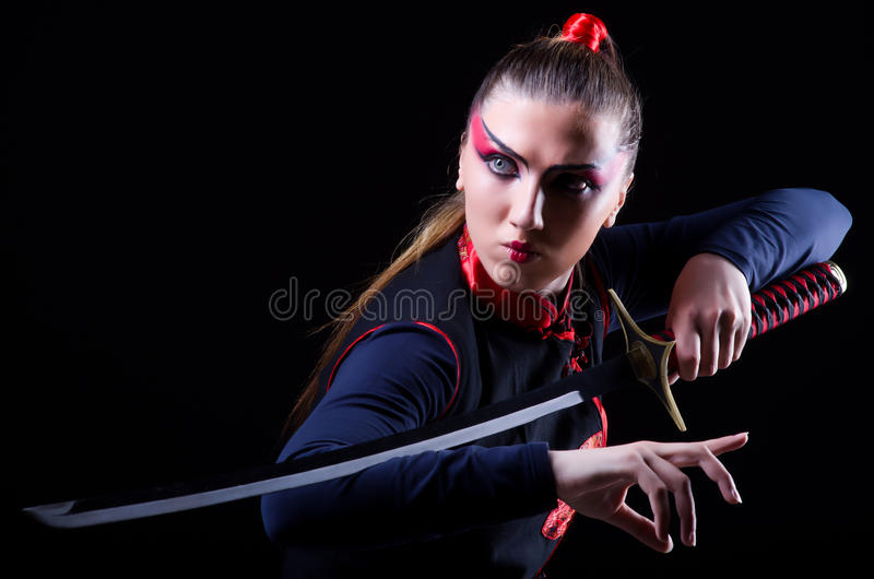 Download Woman in japanese martial stock photo. Image of asian - 31752404