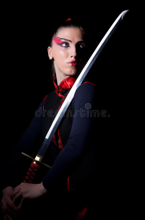 Woman In Japanese Martial Stock Photos