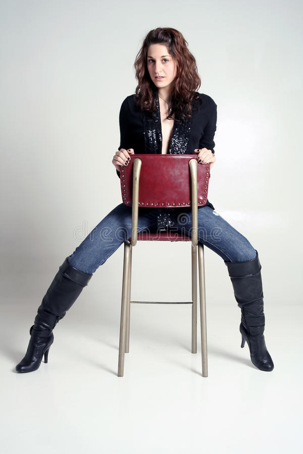 Download Woman In Jeans And Boots Royalty Free Stock Images - Image: 19155709
