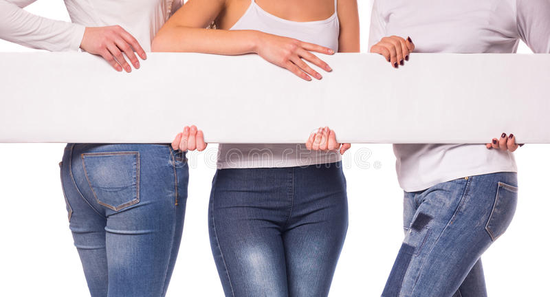 Woman with jeans stock photos