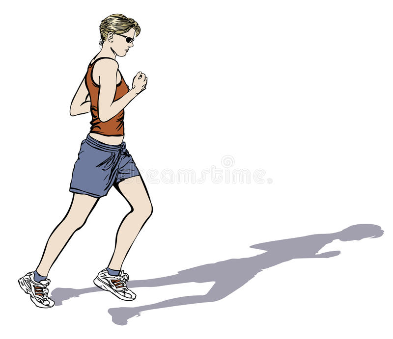 Download Woman jogging stock vector. Illustration of exercise, sport - 9700366