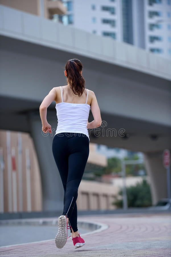 Download Woman jogging at morning stock image. Image of health - 33008945