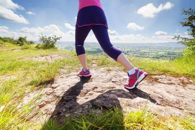 Woman jogging stock photography
