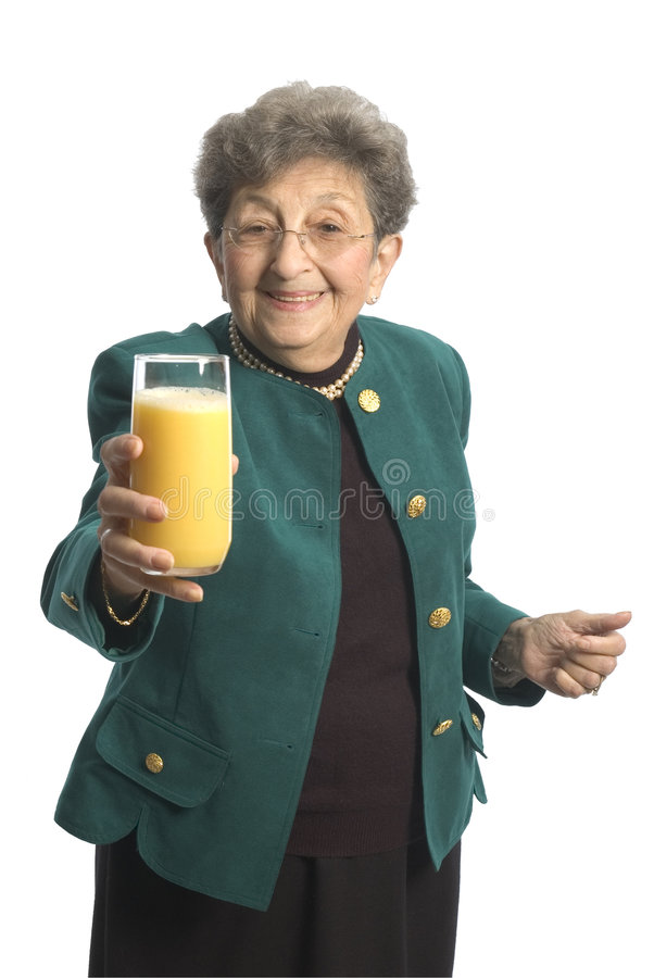 Download Woman with juice stock image. Image of green, mature, grandma - 1719687