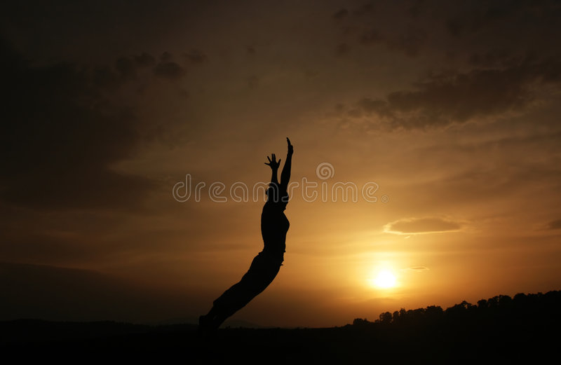 Woman jump stock photography