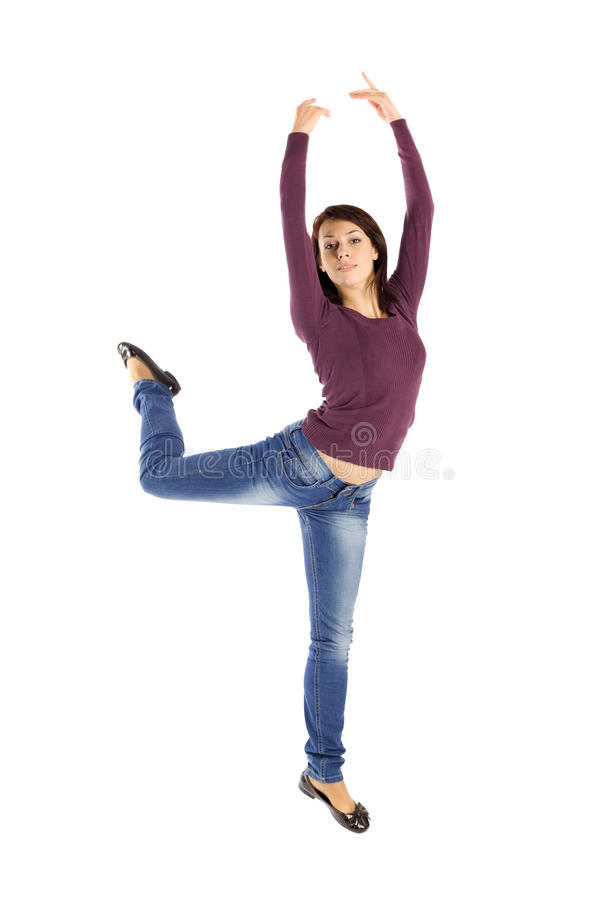 Woman Jump into the Air