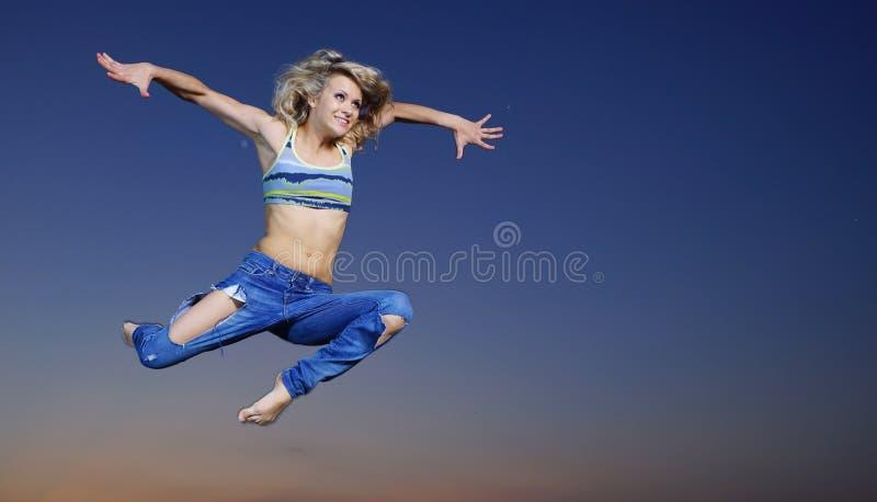 Download Woman Jump At Night Stock Photo - Image: 38939614