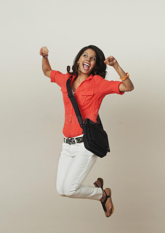 Free Woman Jumping Royalty Free Stock Photography - 36255937