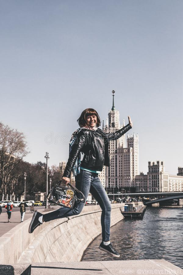 Woman Jumping, Moscow Free Public Domain Cc0 Image