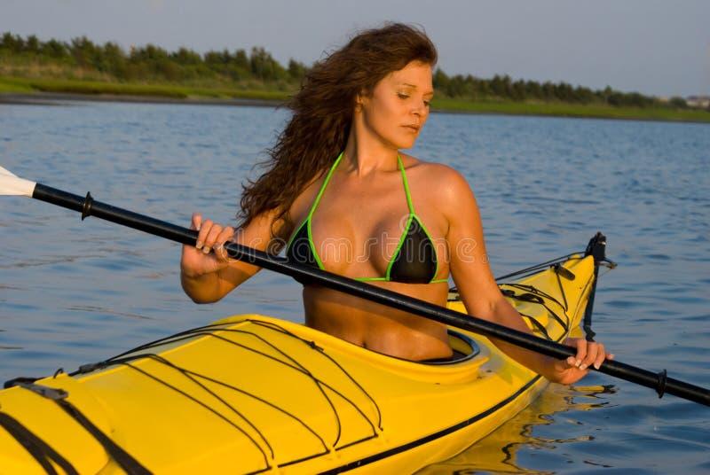 Download Woman Kayaking Stock Photography - Image: 5528842