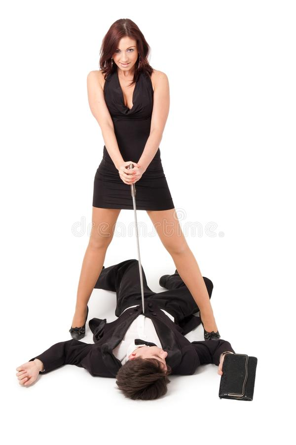 Download Woman kills man with sword stock image. Image of concept - 9657709