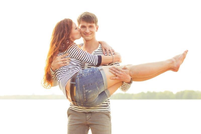 Woman Kissing Boyfriend Royalty Free Stock Photography ...