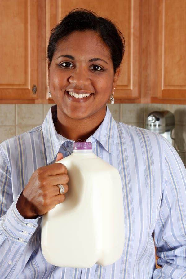 Download Woman In Kitchen stock image. Image of granite, countertop - 7163681
