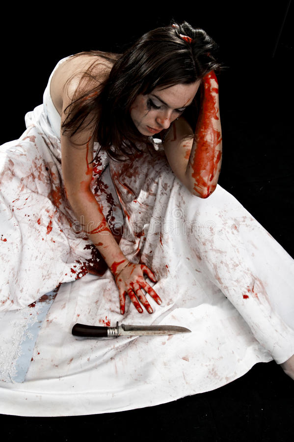 Download Woman with knife stock photo. Image of isolated, furious - 10110150
