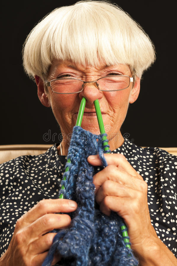 Free Woman Knitting Royalty Free Stock Image - 25159756