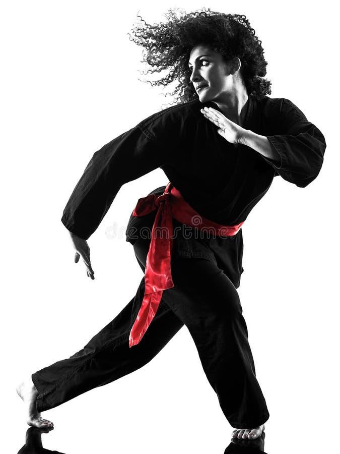 Free Woman Kung Fu Pencak Silat Isolated Royalty Free Stock Image - 103384296