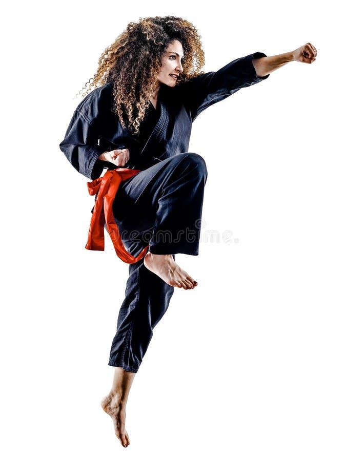 Free Woman Kung Fu Pencak Silat Isolated Stock Image - 91248641