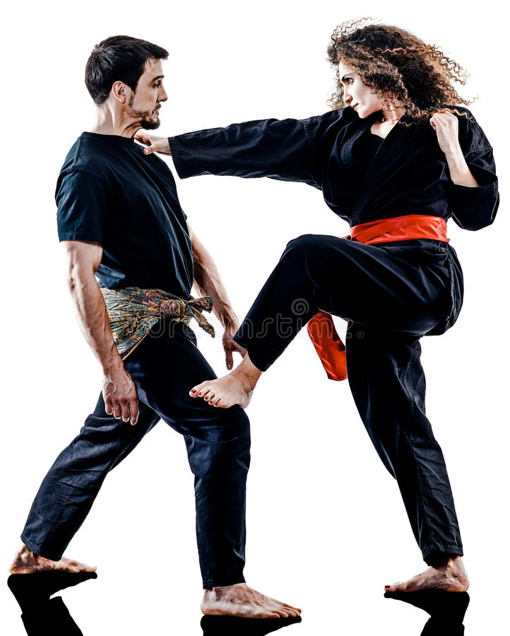 Free Woman Kung Fu Pencak Silat Isolated Stock Photography - 91248942