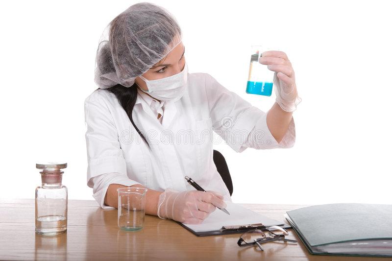 Woman In Lab Stock Photo