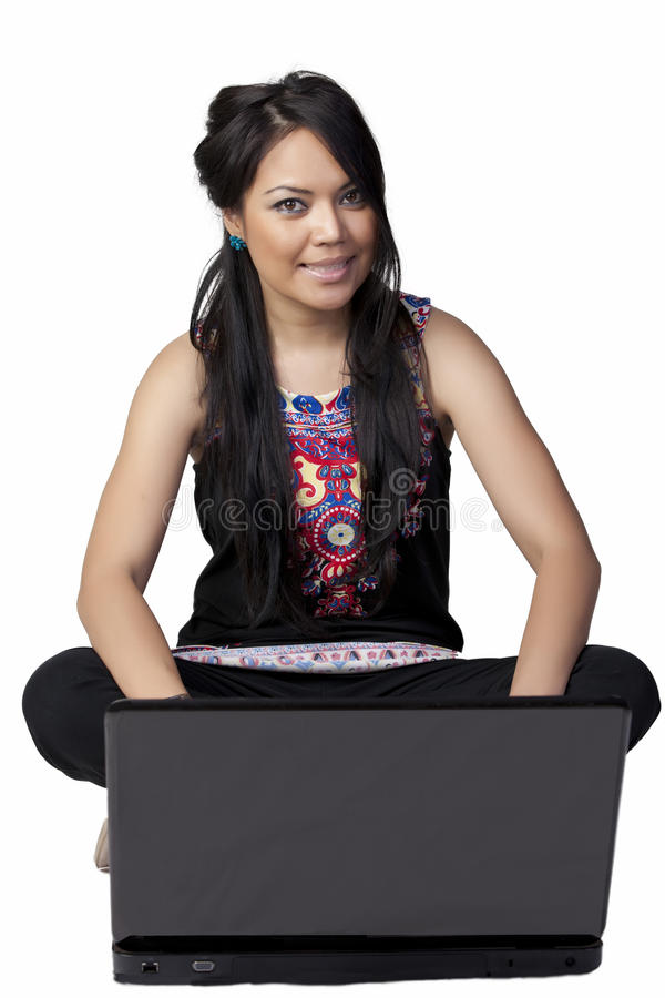 Woman With Lapop Royalty Free Stock Image