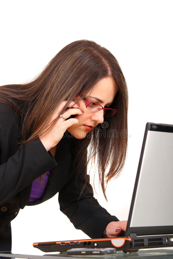 Download Woman And Laptop Stock Photography - Image: 7283522