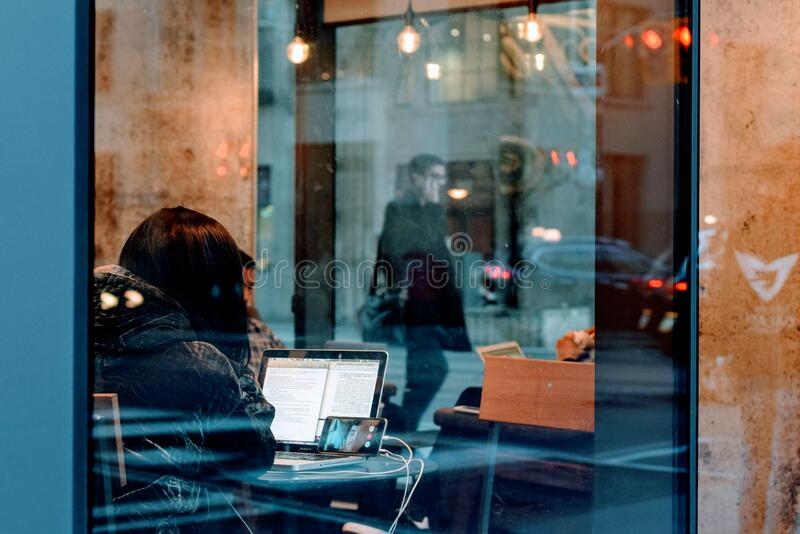 Woman On Laptop In Cafe Free Public Domain Cc0 Image