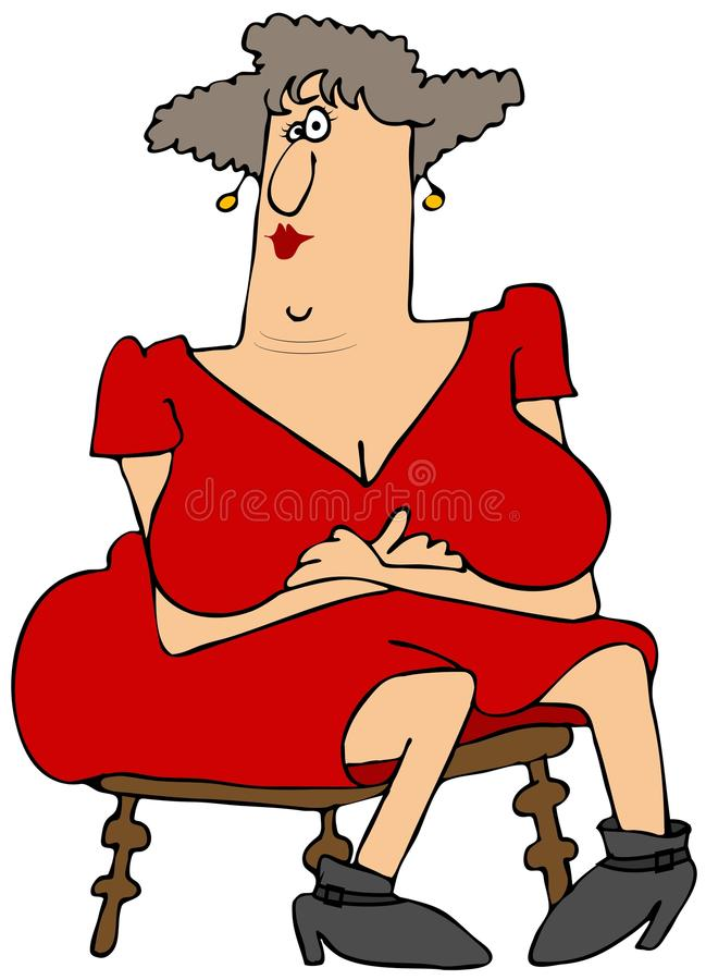 Download Woman with large breasts stock illustration. Image of arms - 37617712