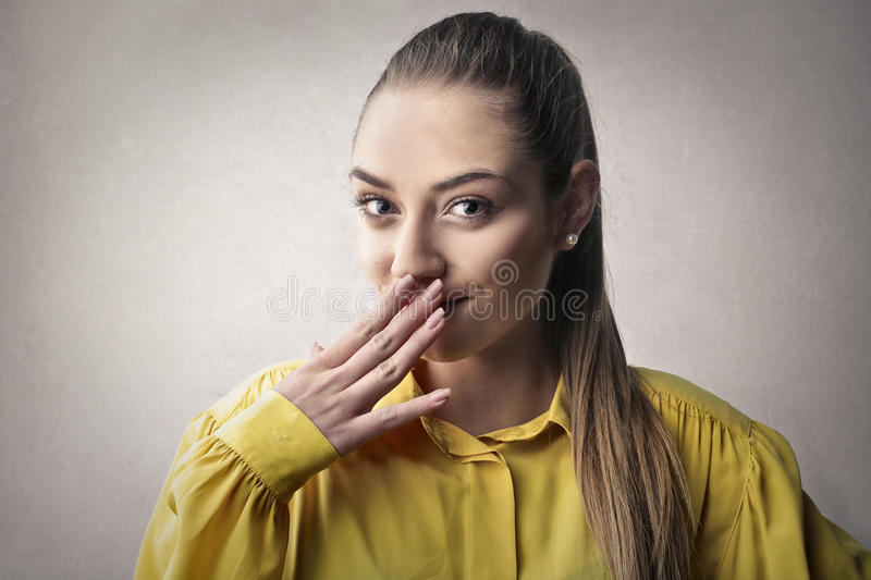 Woman laughing royalty free stock image