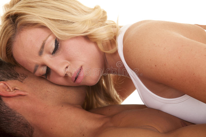 man and woman laying together naked