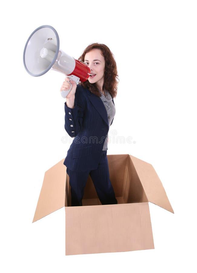 Download Woman Leader stock image. Image of cardboard, loud, adult - 3493149