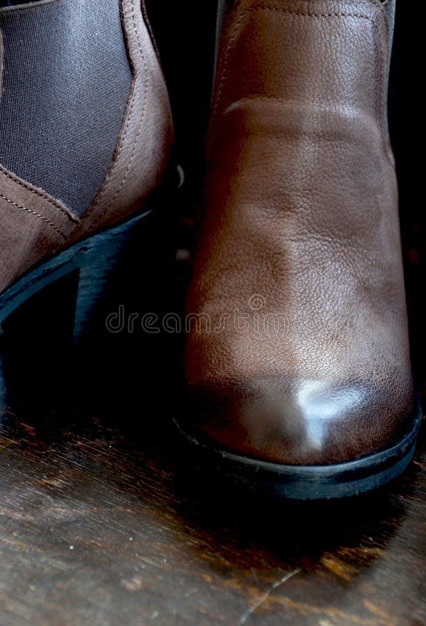 Woman Leather Shoes royalty free stock photo