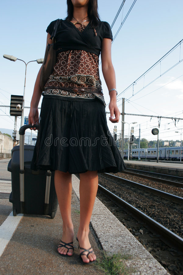 Download Woman leaving on a journey stock image. Image of female - 3065227