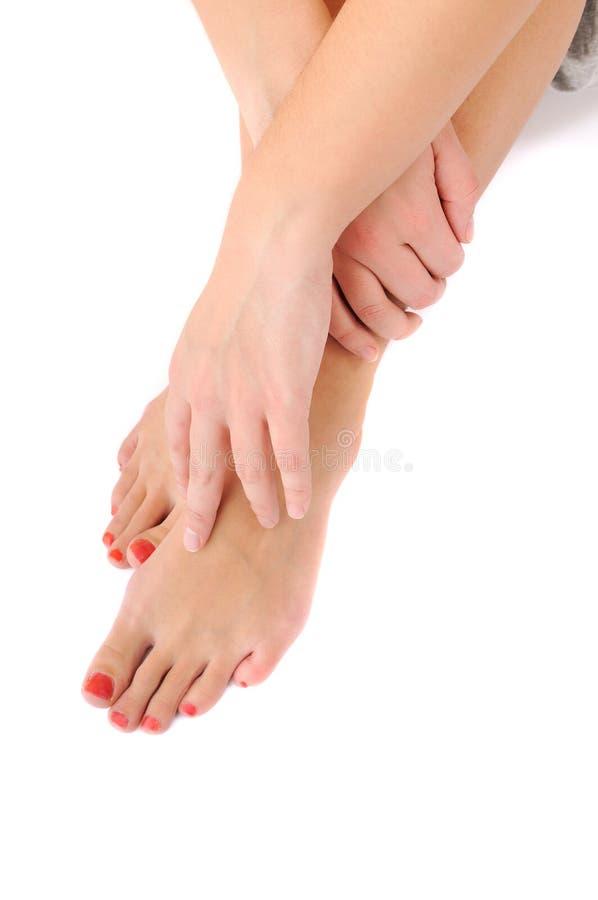 Free Woman Leg Care C Stock Image - 9385931