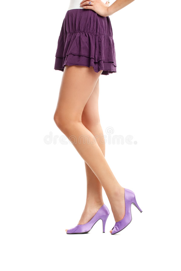 Woman Legs. Over white background royalty free stock images