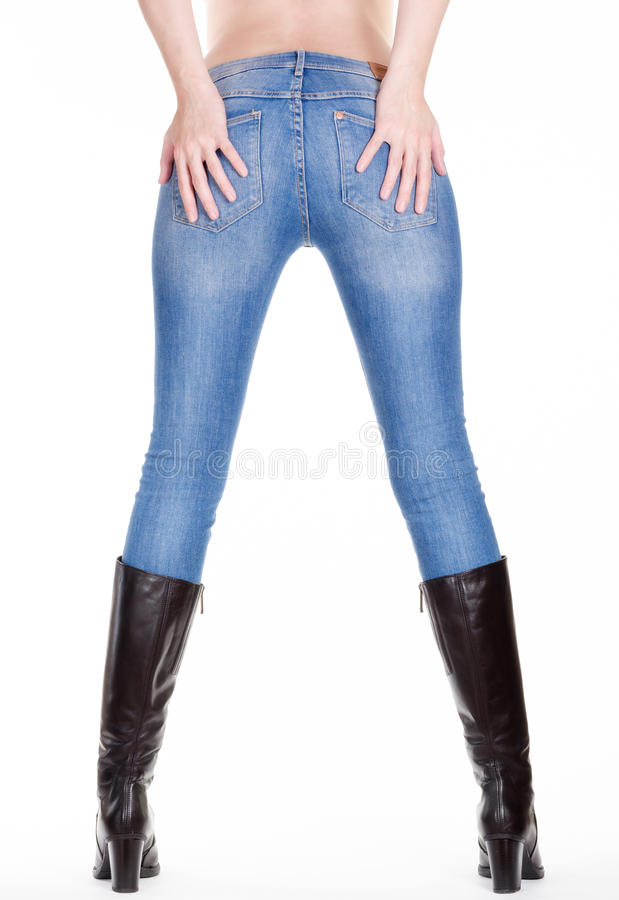 Download Woman legs back view stock photo. Image of glamour, jeans - 36330910