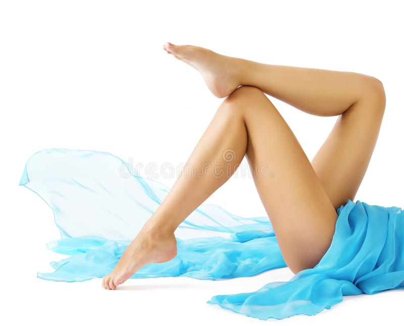 Woman Legs Beauty, Female Smooth Body, Leg Skin Care Hair Removal. Woman Legs Beauty, Female Smooth Body, Leg Skin Care and Hair Removal concept, Girl Lying on stock photos