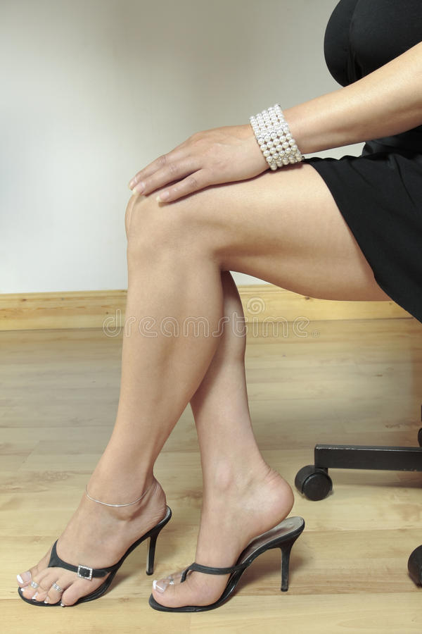 Download Woman Legs With Black Heels Stock Photo - Image: 11694502