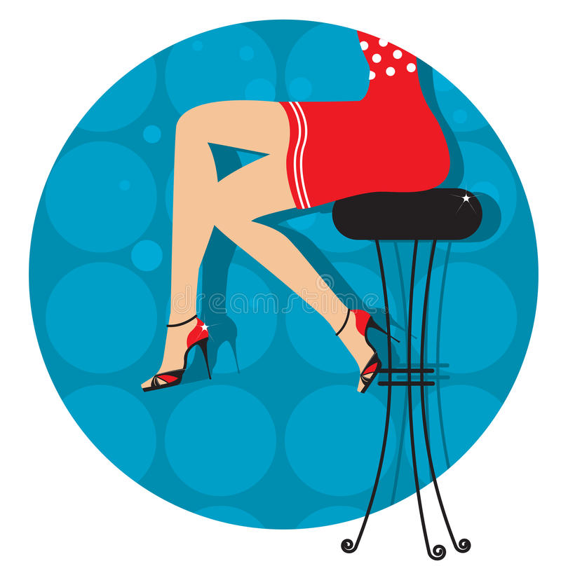 Woman legs with fashion shoes royalty free illustration