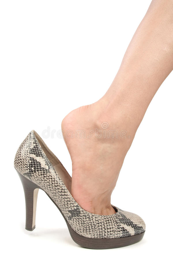 Woman legs with shoes royalty free stock photography