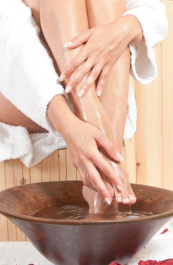 Woman Legs In Spa Stock Photo