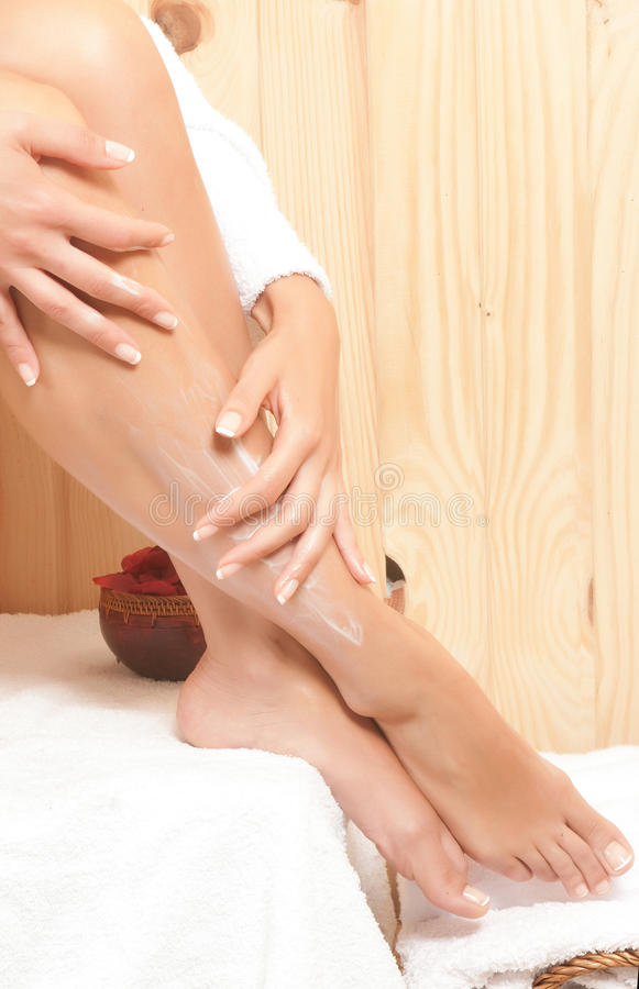Download Woman legs in spa stock photo. Image of caucasian, clean - 28499350