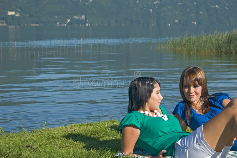 Download Woman Lengthened In The Grass Stock Image - Image: 3275979